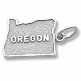 14K White Gold Oregon Charm by Rembrandt Charms