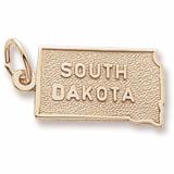 10K Gold South Dakota Charm by Rembrandt Charms