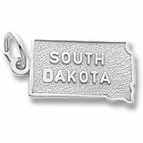 14K White Gold South Dakota Charm by Rembrandt Charms
