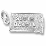 14K White Gold South Dakota Charm by Rembrandt Charms
