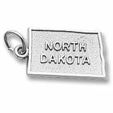 14K White Gold North Dakota Charm by Rembrandt Charms