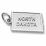 Sterling Silver North Dakota Charm by Rembrandt Charms