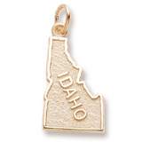 Gold Plated Idaho Charm by Rembrandt Charms