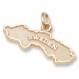 Gold Plated Sweden Charm by Rembrandt Charms
