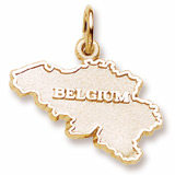 14K Gold Belgium Charm by Rembrandt Charms