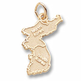 Gold Plated Korea Map Charm by Rembrandt Charms