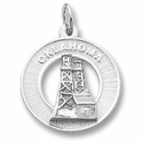 14K White Gold Oklahoma Charm by Rembrandt Charms