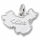 Sterling Silver China Map Charm by Rembrandt Charms