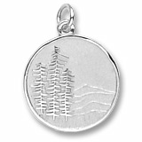 14K White Gold Mountain Scene Charm by Rembrandt Charms