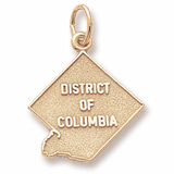 Gold Plated District of Columbia Charm by Rembrandt Charms