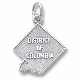 14K White Gold District of Columbia Charm by Rembrandt Charms