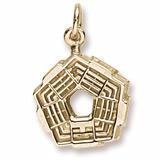Gold Plated Pentagon Charm by Rembrandt Charms