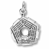 14K White Gold Pentagon Charm by Rembrandt Charms