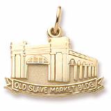 Gold Plated Old Slave Market Building Charm by Rembrandt Charms