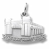 14K White Gold Old Slave Market Building Charm by Rembrandt Charms