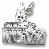 14K White Gold South Carolina Temple Charm by Rembrandt Charms