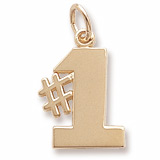 10K Gold Number One Charm by Rembrandt Charms
