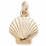 Gold Plated Clamshell Charm by Rembrandt Charms