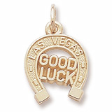 Gold Plate Las Vegas Good Luck Charm by Rembrandt Charms