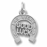 14K White Gold Las Vegas Good Luck Charm by Rembrandt Charms