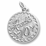 Sterling Silver Adorable 10 Birthday Charm by Rembrandt Charms