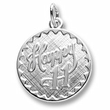 Sterling Silver Happy 11 Birthday Charm by Rembrandt Charms