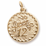 Gold Plated Grown Up 12 Birthday Charm by Rembrandt Charms