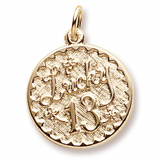 10k Gold Lucky 13 Charm by Rembrandt Charms