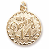 14k Gold Darling 14 Birthday Charm by Rembrandt Charms