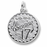 14k White Gold Charming 17 Birthday by Rembrandt Charms