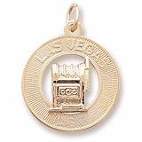 14k Gold Las Vegas Charm by Rembrandt Charms