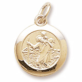 10K Gold Saint Christopher Charm by Rembrandt Charms