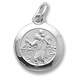 14K White Gold Saint Christopher Charm by Rembrandt Charms