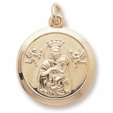 Gold Plated Madonna and Child Charm by Rembrandt Charms
