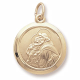 Gold Plated Saint Anthony Charm by Rembrandt Charms