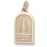 Gold Plated Christmas Tree Ornament by Charm Rembrandt Charms