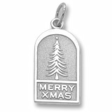 Sterling Silver Christmas Tree Ornament Charm by Rembrandt Charms