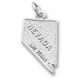 14K White Gold Las Vegas Nevada Charm by Rembrandt Charms