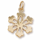 Gold Plated Snowflake Charm by Rembrandt Charms