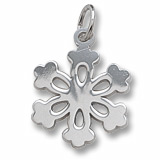 14K White Gold Snowflake Charm by Rembrandt Charms