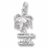 Sterling Silver Paradise Island Palm Tree Charm by Rembrandt Charms