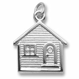 14K White Gold House Charm by Rembrandt Charms