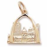 14K Gold St. Louis, MO. Skyline Charm by Rembrandt Charms