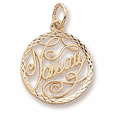 14K Gold Nassau Faceted Charm by Rembrandt Charms