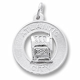 14K White Gold Atlantic City Slots Ring Charm by Rembrandt Charms