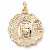 Gold Plate Atlantic City Slots Charm by Rembrandt Charms