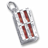 Sterling Silver Orange Crate Charm by Rembrandt Charms