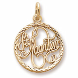 Gold Plate St. Maarten Faceted Charm by Rembrandt Charms