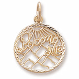 Gold Plate Pocono Mountains Faceted Charm by Rembrandt Charms