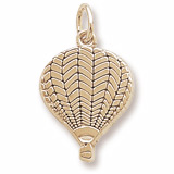 10K Gold Flat Hot Air Balloon Charm by Rembrandt Charms